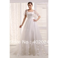 Retro, Noble Satin, Tulle Chapel Train Wedding Dresses Ivory