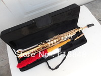 Wholesale sales  very durable, YSS - 875 - B adjustable soprano sax straight pipe surface of gold