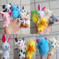 Plush toy small puppet double layer tape animal cartoon even a finger 0 child doll