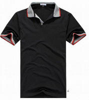 Discount Collection Men's Turn-Down Collar Short Sleeve Polo Shirt Tees Gray/Black/Blue/White Free Shipping Drop Shipping