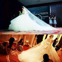 2013 bride tube top luxury 300 meters big train wedding dress formal dress new arrival 2014