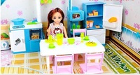 Toys for girls doll toys doll scene model toys dream kitchen birthday gift