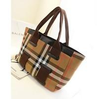 Women's handbag big bags canvas bag  female fashion british style plaid brief shoulder bag female