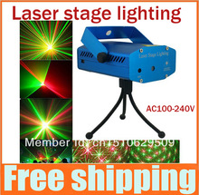 2014 new arrival Mini Projector DJ Disco Light Stage Xmas Party Laser Lighting Show Laser Stage Light Projector, Free Shipping(China (Mainland))