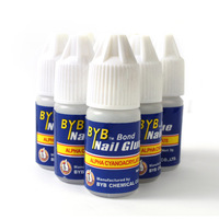 100 Pcs/lot 3g Pro Acrylic Nail Glue French Art False Tips and Nail Art Decoration Tips