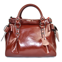 cowhide handbag women leather handbags bowknot High quality A variety of color Free shipping
