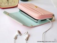 Mobile phone bag Crown smart pouch women Wallet case for LG E960 Nexus 4 P880 E975 P705 Optimus L7 Optimus L9 Nexus 5