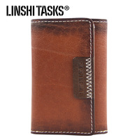 Linshitasks key wallet male genuine leather multifunctional first layer of cowhide male key wallet