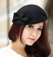 2014 British style retro bow fashion beret(freeshipping)