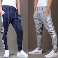 2014 new mens hip hop sports wear slim fit jumpsuit british style sweatpants Taper pants casual pants skinny harem pants