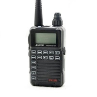 PUXING PX-2R UHF Plus (400-470MHz TX/RX) VHF (136-174MHz RX Only) Dual receive FM transceiver with Keypad LCD for security,hotel