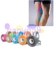 10pcs free ship 5*5M elastic kinesiology tape muscle care bandage sport therapeutic muscle tape Kinesio tape