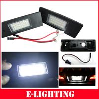 Error Free for BMW  E63 E64 E81 E85 E87 650i M6 Z4 18-SMD LED License Plate Lights