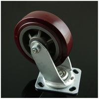6 inch Polyurethane Casters Heavy Universal Industrial Rubber Wheel Load 300Kgs