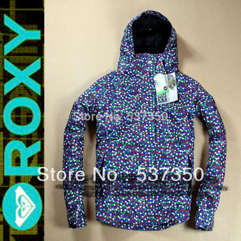 Free shipping+2014 seasonal Arrive Classic women Blue color Dots+Woman skiing/snowboard jacket coats+winter outwear(China (Mainland))