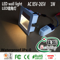 Free shipping factor hot sale 1W LED wall lights led footlight stairs step led corner light  Warranty 2 years