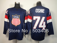 2014 Olympic Team USA #74 OSHIE dark blue America National Twill hockey Jerseys,accept mix order