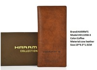 Free Shipping+HOT Fashion+harrms brand+mens wallets+male genuine leather wallet+long design wallet h011058-3