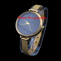 New Fashion Contracted c Style Brand Watch k Gold Luxury Watch with Dazzling Large Dial Gracile Strap.TOP Quality,Free Shipping