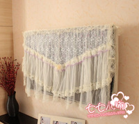 Rustic fabric lace lcd cover flat panel tv mount dust cover