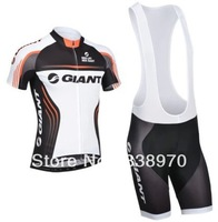 High quality! 2014 giant cycling jersey bike short sleeve and bicicleta bib shorts/ ciclismo clothing set SA#541