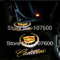 2x car DIY The 2nd gen Car logo Shadow light for Cadillac 7W LED Car Door Welcome Light Laser Lights with car logo Shadow light
