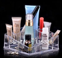 Free Shipping 1pc Crystal Make Up Cosmetic Organizer Storage Case Box Container/Bathroom Organizer/Jewelry Organizer Case Box