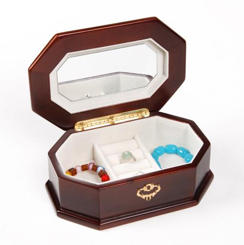 Wood jewelry box jewelry chest cosmetic box princess fashion vintage(China (Mainland))