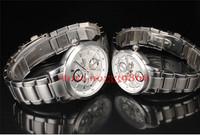 Drop Shippping Black Sports Male Watch Stainless Steel Calendar Mens Watch Waterproof Male Table Free Shipping