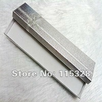 Wholesale 12pcs/Lot 20x4.5x2.5cm Silver Jewelry Box Necklace Bracelet Packaging Box Gift Box Free Shipping