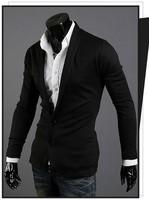 [311-W55] 2014 Hot Sale Blazer Men Stylish Slim Fit Suit Jacket Single Row Two Button Knitting Blazer Coat Long Sleeve Outwear