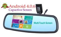 Android 4.0.6 Capactive Screen 4.3 Inch HD car dvr/ camera /car Rearview Mirror  GPS Navigator+AV+DVR