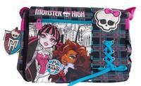 Genuine Monster foreign trade shipping Monste High school satchel shoulder bag Messenger bag shoelaces wizard school kid bag