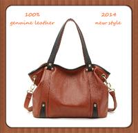 100% Genuine Leather Bag Fashion 2015 Women Messenger Bag Shoulder Bag Vintage Crossbody Bag Women Leather Handbag Tote Bolsas