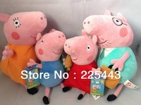 hot sale peppa pig plush toy doll George peppa mom dad 30cm cartoon toy free shipping