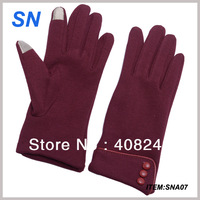 Free shipping  Women touch screen gloves combed cotton touch screen gloves high quality touch