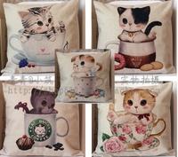 Fluid cup cat series of car home cushion kaozhen pillow cover core 45cm