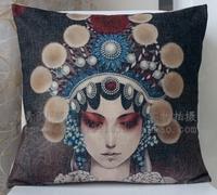 Linen car home cushion kaozhen pillow cover core 44cm
