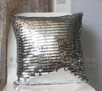 White car shining paillette home cushion kaozhen pillow cover core 42cm