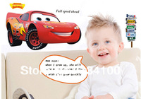 2014 hot DIY fashion Red cartoon car decoration vinyl waterproof and easily removable  wall stickers  home decor for gifts