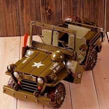 High-fidelity old military vehicle/Top grade home decor,steel craft army collection(China (Mainland))