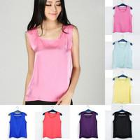 new 2014 women clothing Ladies designer blouses  shirts T-shirt  Vest  tanks & camis loose Tanks Tops Plus Size S-XL 12 Color