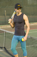 Outdoor vest male sports vest seamless tights moisture wicking basic vest undershirt