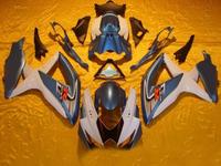 Motorcycle Fairing kit for SUZUKI GSXR600 750 08 09 GSXR600 GSXR750 GSX-R600 750 K8 2008 2009 white blue ABS Fairings set YZ91