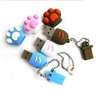 20pcs/lot Cute Bear Paw Cartoon USB Flash Drive 1GB 2GB 4GB 8GB 16GB 32GB usb flash memory usb flash memory disk PENDRIVE(China (Mainland))