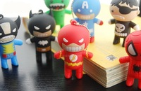 10pcs/lot 1GB 2GB 4GB 8GB 16GB 32GB usb flash drive Cartoon Hero USB Flash Drive  memory disk pen drive USB 2.0 fashion style