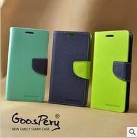 Korea Original MERCURY Goospery Stand Leather Case & Credit Card Slot for Samsung Galaxy S4 Active i9295 + Film (SX25)