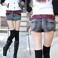 Fashion hot jeans shorts enim short women's skorts slim hip skirt sexy ultra-short skorts women autumn and winter denim skirt