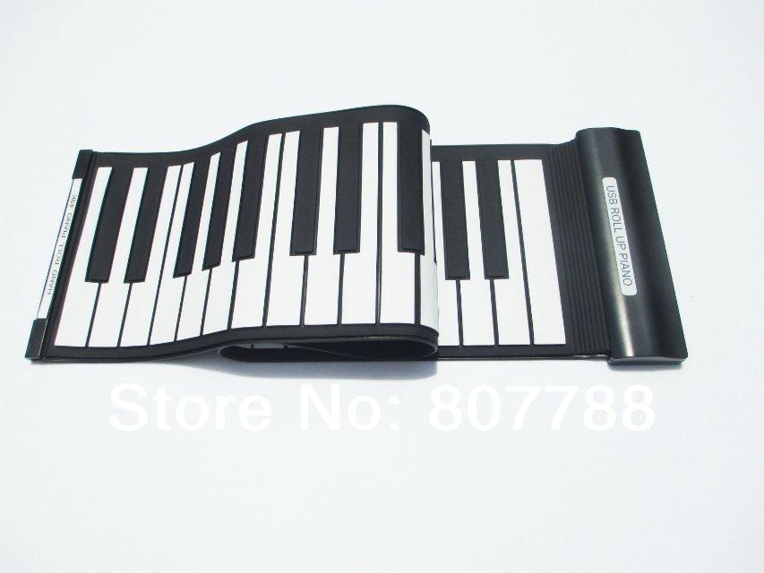 49 Keys Professional Flexible MIDI Roll Up Electronic USB Piano Keyboard Gift Wholesale New Hot Sales(China (Mainland))
