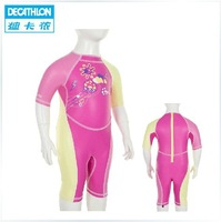 Freeshipping Decathlon piece swimsuit baby girls cute girl windproof sun warm KLOUPI NABAIJI